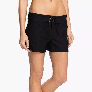 LA BLANCA Black Board Drawstring Shorts Swimsuit L